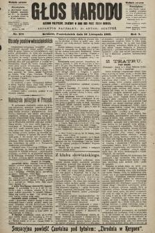 Głos Narodu : dziennik polityczny, założony w roku 1893 przez Józefa Rogosza (wydanie poranne). 1902, nr279