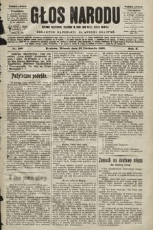 Głos Narodu : dziennik polityczny, założony w roku 1893 przez Józefa Rogosza (wydanie poranne). 1902, nr280