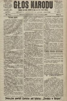 Głos Narodu : dziennik polityczny, założony w roku 1893 przez Józefa Rogosza (wydanie poranne). 1902, nr286