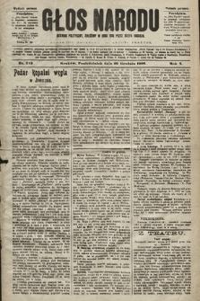 Głos Narodu : dziennik polityczny, założony w roku 1893 przez Józefa Rogosza (wydanie poranne). 1902, nr312