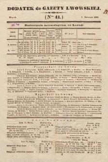Dodatek do Gazety Lwowskiej : doniesienia urzędowe. 1846, nr41