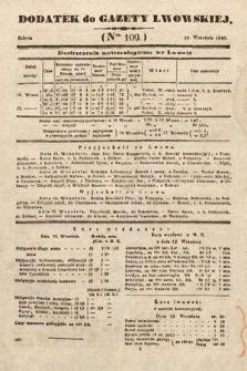 Dodatek do Gazety Lwowskiej : doniesienia urzędowe. 1846, nr109