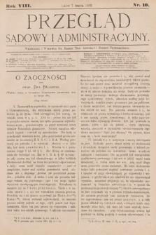 Przegląd Sądowy i Administracyjny. 1883, nr10
