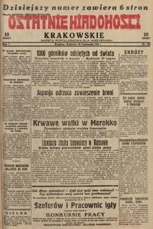 Ostatnie Wiadomości Krakowskie : gazeta popołudniowa dla wszystkich. 1931, nr162