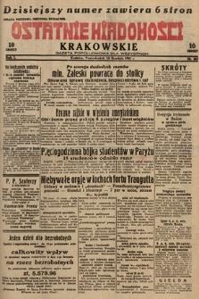 Ostatnie Wiadomości Krakowskie : gazeta popołudniowa dla wszystkich. 1931, nr183