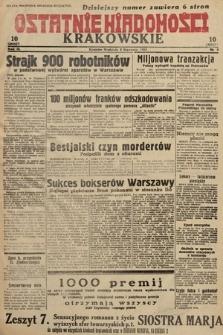 Ostatnie Wiadomości Krakowskie. 1933, nr8
