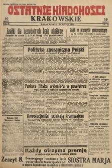 Ostatnie Wiadomości Krakowskie. 1933, nr12