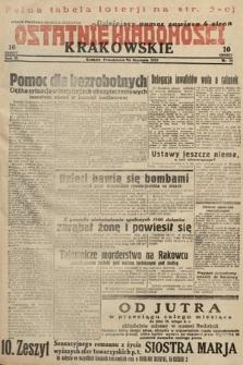 Ostatnie Wiadomości Krakowskie. 1933, nr16