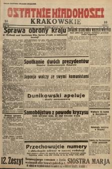 Ostatnie Wiadomości Krakowskie. 1933, nr20