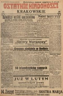 Ostatnie Wiadomości Krakowskie. 1933, nr25