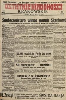 Ostatnie Wiadomości Krakowskie. 1933, nr29