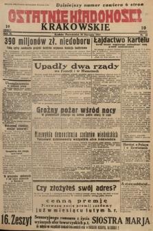 Ostatnie Wiadomości Krakowskie. 1933, nr30