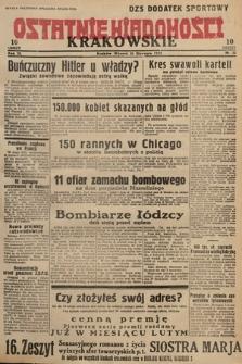 Ostatnie Wiadomości Krakowskie. 1933, nr31