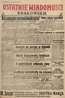 Ostatnie Wiadomości Krakowskie. 1933, nr35