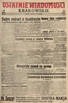 Ostatnie Wiadomości Krakowskie. 1933, nr36