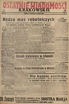 Ostatnie Wiadomości Krakowskie. 1933, nr37