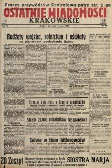 Ostatnie Wiadomości Krakowskie. 1933, nr40