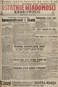 Ostatnie Wiadomości Krakowskie. 1933, nr43
