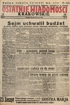 Ostatnie Wiadomości Krakowskie. 1933, nr46