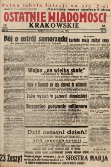 Ostatnie Wiadomości Krakowskie. 1933, nr47