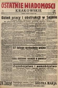 Ostatnie Wiadomości Krakowskie. 1933, nr48