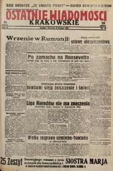 Ostatnie Wiadomości Krakowskie. 1933, nr50