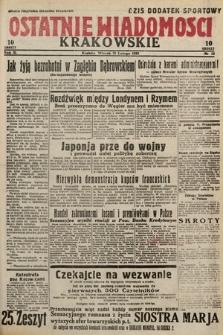 Ostatnie Wiadomości Krakowskie. 1933, nr52