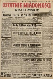 Ostatnie Wiadomości Krakowskie. 1933, nr57