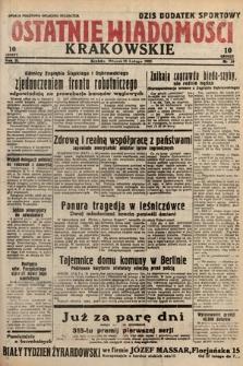 Ostatnie Wiadomości Krakowskie. 1933, nr59