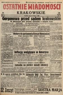 Ostatnie Wiadomości Krakowskie. 1933, nr67