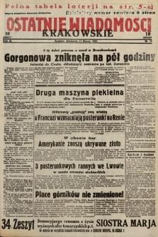Ostatnie Wiadomości Krakowskie. 1933, nr71