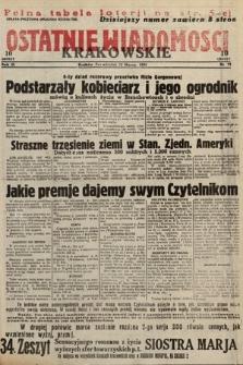Ostatnie Wiadomości Krakowskie. 1933, nr72
