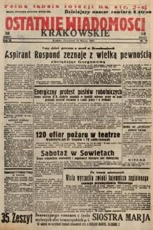 Ostatnie Wiadomości Krakowskie. 1933, nr75