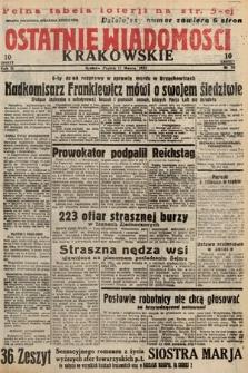 Ostatnie Wiadomości Krakowskie. 1933, nr76
