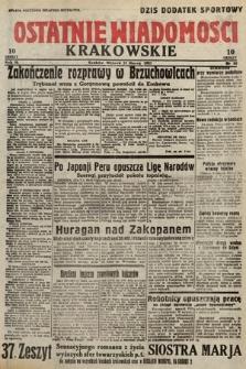 Ostatnie Wiadomości Krakowskie. 1933, nr80