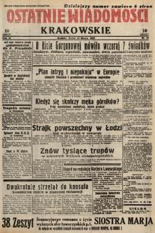 Ostatnie Wiadomości Krakowskie. 1933, nr81