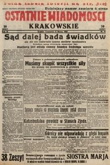 Ostatnie Wiadomości Krakowskie. 1933, nr82