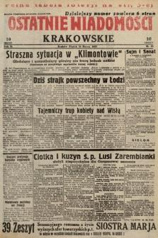 Ostatnie Wiadomości Krakowskie. 1933, nr83