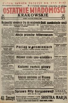 Ostatnie Wiadomości Krakowskie. 1933, nr89