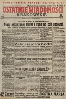 Ostatnie Wiadomości Krakowskie. 1933, nr91