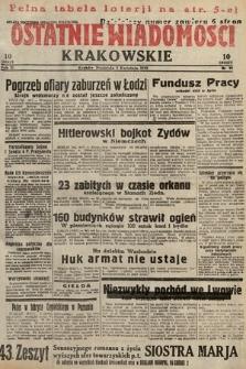 Ostatnie Wiadomości Krakowskie. 1933, nr92