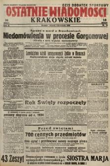 Ostatnie Wiadomości Krakowskie. 1933, nr94