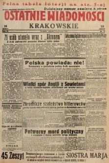 Ostatnie Wiadomości Krakowskie. 1933, nr97