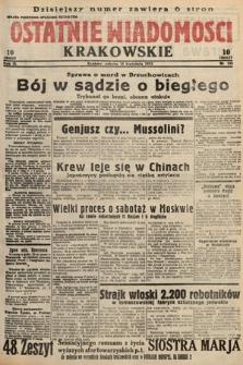 Ostatnie Wiadomości Krakowskie. 1933, nr105