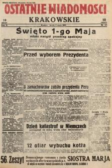 Ostatnie Wiadomości Krakowskie. 1933, nr121