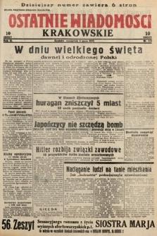 Ostatnie Wiadomości Krakowskie. 1933, nr122