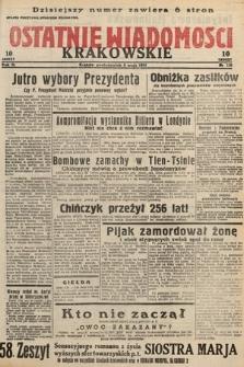 Ostatnie Wiadomości Krakowskie. 1933, nr126