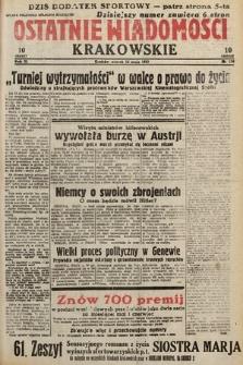 Ostatnie Wiadomości Krakowskie. 1933, nr134