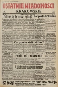 Ostatnie Wiadomości Krakowskie. 1933, nr136