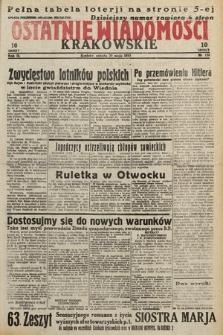 Ostatnie Wiadomości Krakowskie. 1933, nr138